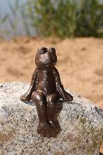 Frosch sitzend normal aus Gusseisen Deco Garten  Braun Figur Skulptur