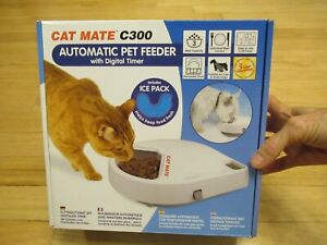 ​Cat Mate C300 Automatic 3 Meal Pet Feeder with Digital Timer NEW IN BOX