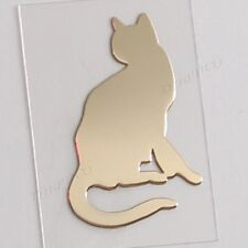 TPD 24K Gold Plated Anti Radiation Block Shield Cell Phone Sticker Cute Cat No3