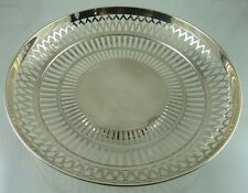 AMERICAN STERLING SILVER PLAIN PIERCED ROUND BOWL BY THE WEBSTER CO.