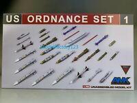 AMK 88E01 1/48 U S Ordnance Set 1 PLANE MODEL
