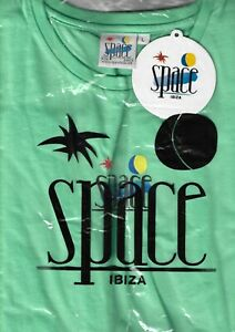 BNWT OFFICIAL Space Ibiza T-Shirt Minty Green Large RARE STOCK FIND VINTAGE