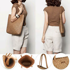 NEW Women Woven Handbag Summer Beach Tote Straw Bag Rattan Casual Shoulder Bags