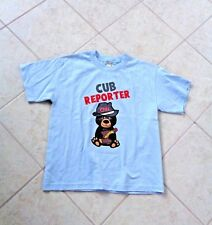 ALSTYLE APPAREL CNN CUB REPORTER LIGHT BLUE T-SHIRT YOUTH LARGE
