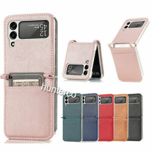 For Samsung Galaxy Z Flip 3 5G Card Slots PU Leather Phone Hybrid Case Cover