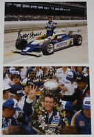 1981 Bobby Unser signed Norton Penske Indy 500 Win Indy Car 8x10 Photo Lot Of 2