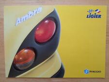 LIGIER AMBRA c1998 UK Mkt Microcar Sales Brochure - Reliant Piaggio