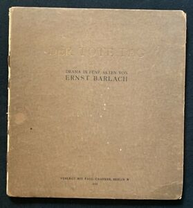 Der tote Tag, Ernst Barlach, 1912, gebunden, Paul Cassirer, Berlin