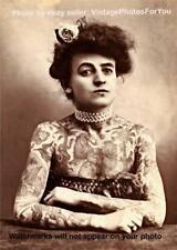 Old 1907 Circus Sideshow 1st Woman Tattoo Artist Parlor/Shop Wall Art/Photo