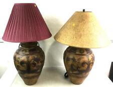 Pair Of Floral Motif Ceramic Table Lamps Lot 2346