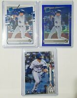 Gavin Lux 2020 Rookie 3 Card Lot - Donruss Blue Holo Prizm Rated Rookie Topps RC