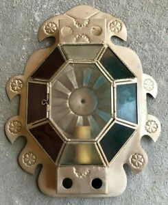 VINTAGE SCONCE (TIN & GLASS) 2 OF 2