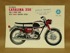 Vintage Yamaha YDS-3 Catalina 250 Motorcycle Brochure Pamphlet Specifications