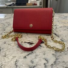NWT Tory Burch Emerson Saffiano Leather Travel Crossbody bag in Red