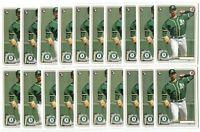 x50 JESUS LUZARDO 2020 Bowman #61 Rookie Card RC logo lot/set Oakland Athletics!