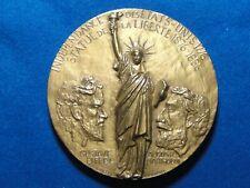 Médaille Bronze Statue Liberté Eiffel Bartholdi Luthringer Lievain 1986 - 485 g