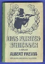 Jagd Waffen Sport Schützen Flinten Schießen Technik Ausbildung Lehrbuch 1920