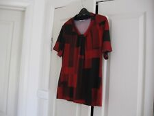 LadiesTop Size Medium Design Noni B Colour Red & Black  Short  Sleeves Polyester