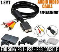 RCA to AV Audio Video Cable TV Scart Lead for Playstation PS1 PS2 PS3 Adapter