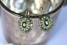 Latch Back Earrings Vermeil Sapphire Beads Christmas New Earrings