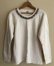 J Crew Necklace Sweater Cream Size M Style 07726