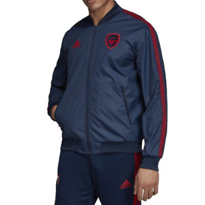 Adidas Jacket Mens Small Authentic Arsenal FC Anthem Full Zip Soccer Player Blue