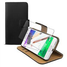 Hülle + GLAS FOLIE für Samsung Galaxy Alpha Schutz Tasche Ständer schwarz