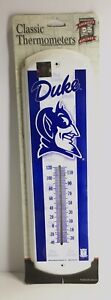 """Duke Blue Devils Classic Metal Thermometor 5"""" X 17"""" Officially Licensed"""