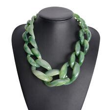 Trend Women Fashion Acrylic Twist Collar Chunky Choker Statement Chain Necklace
