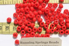 1/0 Seed Beads Glass Opaque Light Red Crafts Jewelry Making 6 x 5mm /1oz