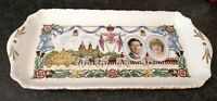 COALPORT TRAY COMMEMORATING WEDDING CHARLES & DIANA LIMITED EDITION OF 2000