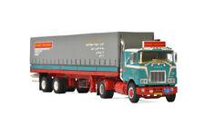WSI MACK F700 4x2 CAB UNIT & CLASSIC CURTAINSIDE TRAILER RYNART TRUCKING 01-2201