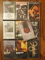 70's Rock Cassette Lot Of Led Zeppelin Bob Dylan Foghat Deep Purple _Santana 90s