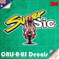 Super Sic Marco MotoGP Decal Sticker - Motorcycle Bike Luggage 3M Film. 100mm.