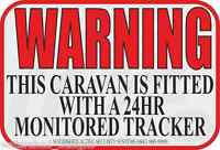 Caravan Tracking Sticker Caravan Tracker Sticker Caravan Warning Security Qty 3