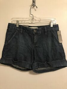 NWT Old Navy Women's Cuffed Denim Shorts Low Rise Size 4