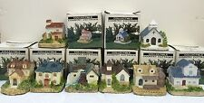 Collectible Country Cottages RGA Industries 1992 Carol Gordon Set of 8
