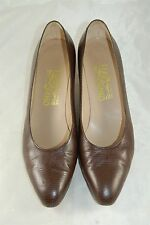 Salvatore Ferragamo Women's Brown Lizard Dress Heels Shoes Size 9.5 AA