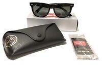 Ray-Ban Wayfarer Sunglasses RB 2140 901 54  Black | Green Classic G-15