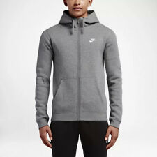 Nike M NSW FZ FLC Club Felpa Uomo Grigio Scuro/grigio Scuro/bianco S (t1x)