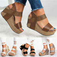 Hot! Summer Women's Wedge Sandals Peep Toe Platform Casual Sandals Chunky Shoes