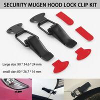 2X Universal Bumper Security Hook Quick Release Fastener Lock Clip Kit Car Tr JE