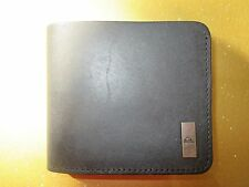NEW* QUIKSILVER SURF WALLET BIFOLD Men's Boy's Black Leather
