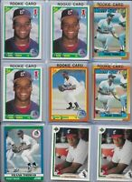 Frank Thomas White Sox Lot of (9) 1990 TRUE Rookies Score Traded Topps HOF Mint