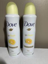 2 Dove Go Fresh Antiperspirant Moisturizing Spray Grapefruit Lemongrass 5.07 Oz