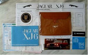GENUINE JAGUAR XJ6 SERIES 1 OWNERS HANDBOOK PACK with pouch, charts, receipts ++
