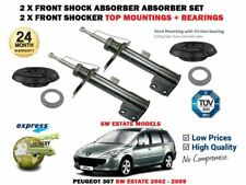 FOR PEUGEOT 307 SW 2002-2009 2X FRONT SHOCK ABSORBERS + TOP MOUNTING + BEARINGS