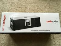 Polk Audio 30-Pins Dock Charger Speaker For Apple iPod Nano 4th 5th iPhone 3/4