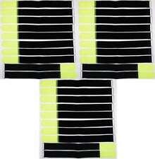 40x Kabelklettband 30cm x 20mm schwarz Klettband Klett Kabel Binder Band mit Öse