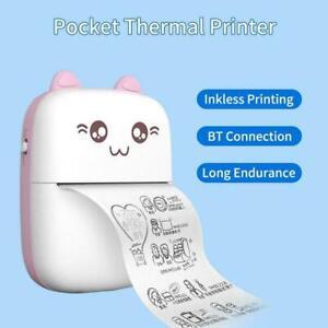 Portable Pocket Smart Thermal Photo Label Sticker Receipt Printing Printer L8R9